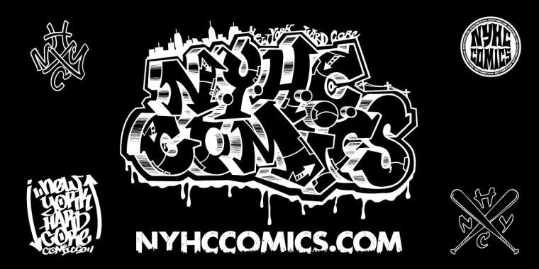 NYHC COMICS Banner White